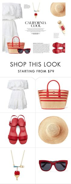 """""""Palm Springs in Summer"""" by katsin90 ❤ liked on Polyvore featuring LoveShackFancy, Tory Burch, Maryam Nassir Zadeh, Toast, Anja, Dolce&Gabbana, Hermès and outfitsfortravel"""