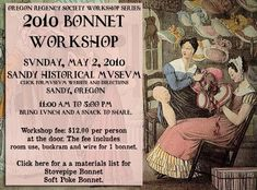 The ORS bonnet workshops are a popular and fun event. It's a casual, busy-hands event where many of us sit around for six hours just sti...