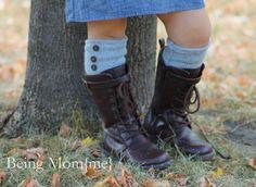 being mom{me} blog: Tutorial for Girls Boot Socks