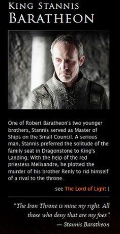 Stannis Baratheon | Game of Thrones
