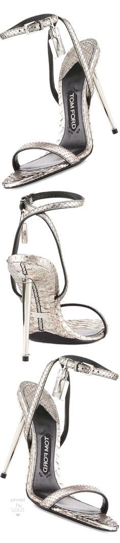 TOM FORD Lock Ankle-Wrap Python 110mm Sandal | LOLO❤︎
