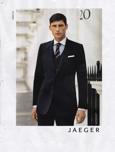 Jaeger fashion ad for men's suit wear. One of my favourite print ads.
