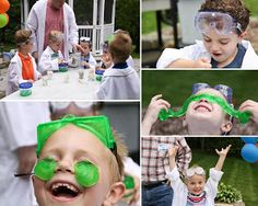 Party of Five: Hayden's 7th Birthday Mad Science Party!!!!!
