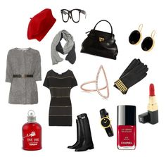 Red Hat by pinkcrema on Polyvore featuring polyvore, fashion, style, See by Chloé, Hermès, Marc Jacobs, Primadina, Movado, Diane Kordas, Alexander Wang, John Lewis, MICHAEL Michael Kors, Ray-Ban, Chanel, Cacharel and TIBI