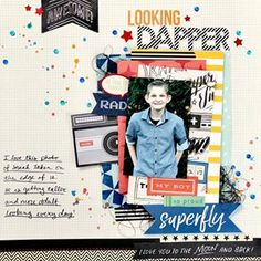 This dapper layout was created using my very first Wreck It Wednesday kit! If you struggle to use your older products, the Wreck It Wednesday series is here to help inspire you!⠀ ⠀ ⠀ #Scrapbook #Scrapbooking #TRDWreckItWednesdays #ScrapbookingBoys