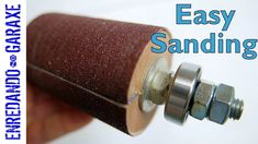 How to make a spinning drum sander for drill press