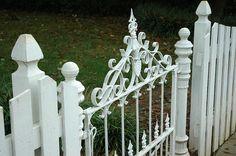 Ornate White Gate. Oh My!! LOVE this gate!!!