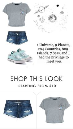 """""""space outfit"""" by xx-secret-xx ❤ liked on Polyvore featuring 3x1, New Look, Converse and Love Quotes Scarves"""