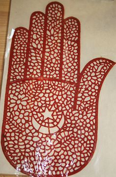Henna stencil for Right  hand in rubber reusable intricate