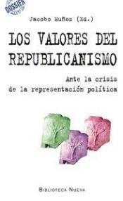 Los valores del republicanismo : ante la crisis de la representación política / Jacobo Muñoz (ed.). Madrid : Biblioteca nueva, [2014] http://absysnetweb.bbtk.ull.es/cgi-bin/abnetopac01?TITN=509618