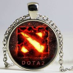 New Chain Dota 2 Glass Necklace Collares Glass game necklaces Statement Necklace Pendant For Men Women Gift Steampunk #Affiliate