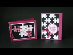 Thursday Tips I've been sharing projects with the Love You to Pieces Bundle this week and today's tip is how to make larger puzzles with the the Puzzle Pieces Thinlits. I have three car… Valentine Day Cards, Valentines, Love You To Pieces, Scrapbook Supplies, Scrapbooking, Washi Tape Diy, Puzzle Pieces, Stamping Up, Cool Cards