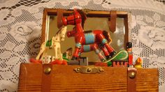 Rocking Horse Music Box - Wooden by TheRecycledGreenRose on Etsy
