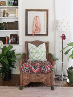 A Fun & Thrifted Family Home — House Call Cottage Living Rooms, Living Spaces, Small Living, Home Decor Fabric, Diy Home Decor, Family Room, Home And Family, Curtains And Draperies, Cosy Corner