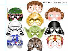 Unique Star Wars Printable Masksparty by AmazingPartyShop on Etsy