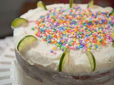 Key Lime Vanilla Birthday Cake Recipe   Trisha Yearwood   Food Network Vanilla Birthday Cake Recipe, Vanilla Cake, Easy Cake Recipes, Dessert Recipes, Dessert Salads, Cupcake Recipes, Sweet Recipes, Key Lime Buttercream, Key Lime Cake