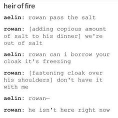 This is seriously Rowan in Heir of Fire. The buzzard>>> Lol just DENYING you know you loved the taste of her blood energy though that's really strange. Throne Of Glass Quotes, Throne Of Glass Books, Throne Of Glass Series, Book Tv, Book Nerd, Book Memes, Book Quotes, Aelin Ashryver Galathynius, Crown Of Midnight