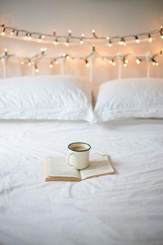 tea, fairy lights, + harry potter.