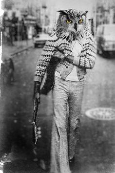 Anthropomorphic Owl Man - John Keddie