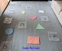 Games for Learning Letters and Sight Words from Creative Play Central