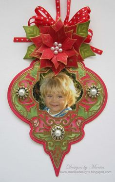 Designs by Marisa: JustRite Papercraft Friday Challenge - Christmas Ornament