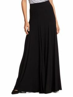 dixie high waisted panneled maxi skirt