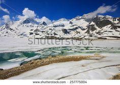 View of Piz Bernina Alps mountains in Switzerland. #Alps #TreninoRossoDelBernina #Glacier #Snow #Switzerland #Landscape #Bernina #Christmas #Xmas #Card