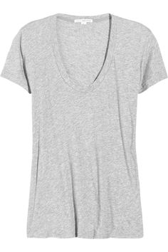 HAVE THIS & LOVE IT Gap favorite Scoop-neck Cotton-jersey T-shirt in Gray