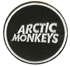 Arctic Monkeys Iron-On Patch Round Letters Logo