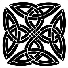 Motif No 2 Stencil From The Library CELTIC Range Buy Stencils Online