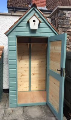 Not got space for a shed? this Sentry shed is made to last and can be painted to any colour of your choice. featuring a lockable door these Sentry sheds start from Garden Tool Storage, Garden Tool Shed, Shed Storage, Water Storage, Garden Sheds, Cool Sheds, Small Sheds, Shed Design, Garage Design