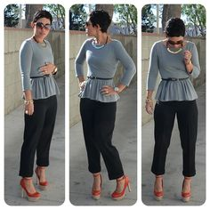 Mimi G Style: cropped pants and peplum top Cute Fashion, Diy Fashion, Fashion Outfits, Womens Fashion, Fashion Ideas, Fashion Fall, Fashion Shoes, Chic Outfits, Fall Outfits