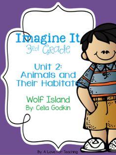 Imagine It Wolf Island Grade 3 {Editable} Grade 3, Third Grade, Spelling Words List, Animal Habitats, Cut And Paste, Homeschool, Wolf, The Unit, Science