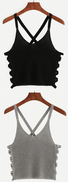 You're ready for anything that might come your way on the heated beach… Crop Top Outfits, Casual Outfits, Cute Outfits, Cami Crop Top, Cami Tops, Camisa Raglan, Teen Fashion, Fashion Outfits, Womens Fashion