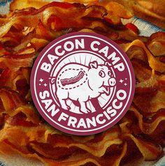 bacon camp sticker