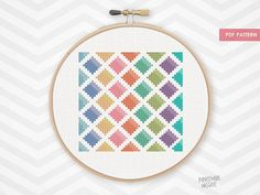 WATERCOLOR DIAMONDS counted cross stitch pattern par PineconeMcGee