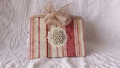 Shabby Chic styled Handmade Journal with Handmade Parchment Paper on http://www.trehanstreasures.com/