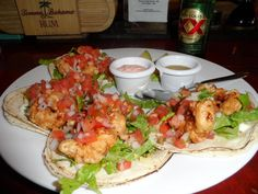 Lobster tacos at the Soggy Peso. Isla Mujeres
