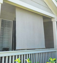 Our All-Weather Outdoor Solar Shade blocks the sun, reduces glare and helps keep you cool. Add to your patio, porch or sunroom to add privacy, shade and to protect your furnishings from sun damage. Shade Umbrellas, Roll Up Design, Solar Shades, Outdoor Curtains, Backyard, Patio, Outdoor Living, Outdoor Decor, Stay Cool