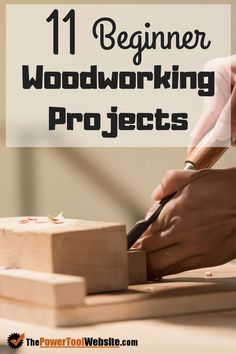 Build your woodworking skills with this roundup of beginner wood projects for DIY enthusiasts and amateur woodworkers. Free plans from some of my favorite online resources. wood projects projects diy projects for beginners projects ideas projects plans Small Woodworking Projects, Woodworking Skills, Popular Woodworking, Custom Woodworking, Woodworking Crafts, Woodworking Plans, Woodworking Furniture, Woodworking Workshop, Wood Furniture