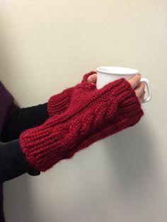 Knitted Fingerless Gloves  Hand Warmers by EterKnityCreations