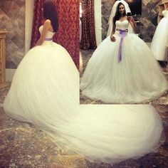 Robe de Mariage 2015 Hot Sell Romantic Wedding Dresses Ball Gown Lace Bridal Dress Corset Back Chapel Train Tulle Sash W4215