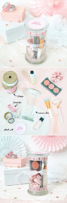 #juwelkerze #geburtstag #kerzenglas #upcycling #geschenkidee Jewel Candle, Diy Cadeau, Children, Birthday, Kit, Bricolage, Home, Candle Decorations, Ideas For Gifts
