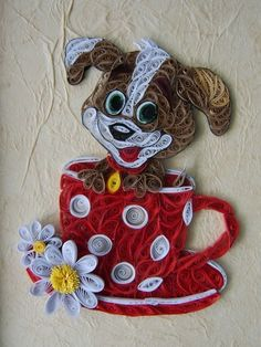 Quilled Puppy in Tea Cup from Just Imagine – Daily Dose of Creativity Site