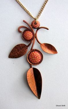 Polymer Clay & Copper, one of my favorite combinations. Gorgeous!