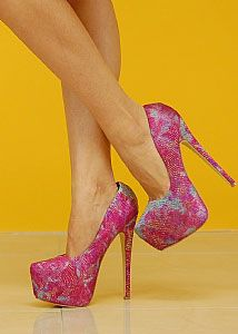 Double Ankle Strap Peep Toe Wedge (Lilac)