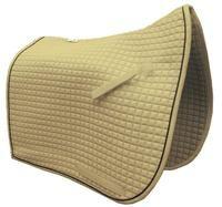 Elegant Cream Dressage Saddle Pad with Flag Tail Shaped Corner