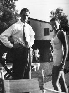 Howard Hughes and Gene Tierney photographed by Jean Howard