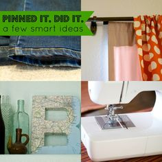 Meg's back with another Pinned it. Did it. column. This time she's sharing about some easy to do smart ideas she found on Pinterest.
