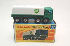 No.32 Leyland Petrol Tanker BP Superfast w/Original Box by Matchbox Lesney England 60's toy Car Great Gift Idea Stocking Stuffer  for Dad by RememberWhenToys on Etsy